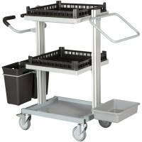 Serveringsvogn, Tina Trolleys Exclusive, 1120x500x1080mm, grå