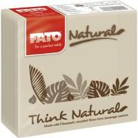 Kaffeserviet, T3, 2-lags, 1/4 fold, 25x25cm, sand, 100% genbrugspapir