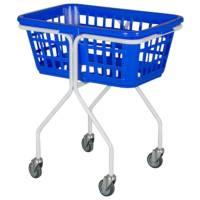 Vaskerivogn, 65x48x74cm, 50 l, hvid, galvaniseret stål/plast, firkantet *Denne vare tages ikke retur*