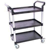 Rullebord, Tina Trolleys, 85x48cm x 1m, sort, 3 hylder, fiberplast *Denne vare tages ikke retur*