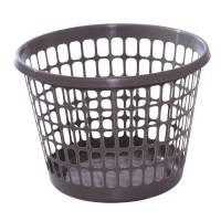 Plastkurv, 31,4cm, Ø44cm, 32 l, grå, plast, rund *Denne vare tages ikke retur*