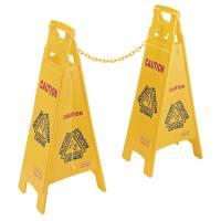 Barriere kæde, Rubbermaid, gul, PP *Denne vare tages ikke retur*