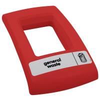 Låg, Enviro, rød, med åbent indkast, til alle typer affald *Denne vare tages ikke retur*