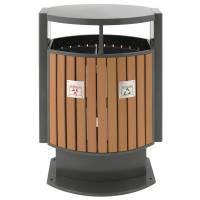 Udendørs affaldsspand, 78 l, grå, 2-rums *Denne vare tages ikke retur*