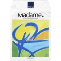 Madamepose, 5 l, hvid, LDPE/RE3, kunstmotiv, 25x36,5cm, med huller til holder