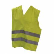 Overtræksvest, One size, gul, polyester, med refleksstriber, 2:2 *Denne vare tages ikke retur*