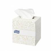 Ansigtsservietter, Tork F1 Premium, 2-lags, 20,9x20cm, hvid, 100% nyfiber *Denne vare tages ikke retur*