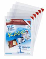 Lomme Easy A4 selvhæftende m/magnetlukning hvid 5stk/pak