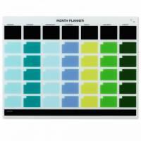 Glastavle Månedsplanner GB 1200x900mm Multicolor