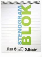 Stenogram- & universalblok Esselte 205x165mm 75blade m/omslag