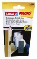 Burretape tesa Velcro sort eks stærk strips 50x100mm 2stk