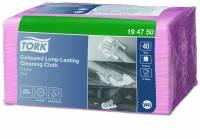 Allround-klud Tork Premium W8 Small Pack rød 30x38cm 40stk