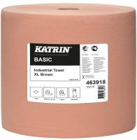 Aftørringspapir Katrin XL brun 1-lags 32cmx1000m 1rul/kar