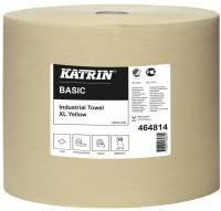 Aftørringspapir Katrin XL gul 1-lags 32cmx1170m 1rul/kar