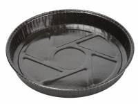 Kageform rund sort til ovn Ø205x25mm 600stk/pak Ecos
