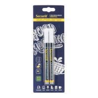 Chalkmarker Securit hvid 1-2mm 2stk/pak