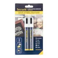 Chalkmarker Securit hvid 2-6mm 2stk/pak