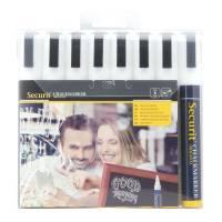 Chalkmarker Securit hvid 2-6mm 8stk/pak