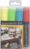 Chalkmarker Securit ass. farve 7-15mm 4stk/pak