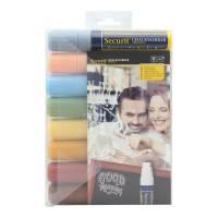 Chalkmarker Securit earth tones 7-15mm 8stk/pak
