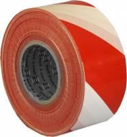 Afspærringsbånd rød/hvid 75mmx500m