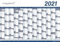 Kæmpekalender 13mdr vinyl 100x70cm 21 0650 00 (2021)
