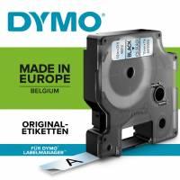 Labeltape DYMO D1 43610 S0720770 6mmx7m sort på klar