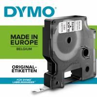 Labeltape DYMO D1 43613 S0720780 6mmx7m sort på hvid