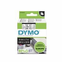 Labeltape DYMO D1 40910 S0720670 9mmx7m sort på klar