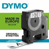 Labeltape DYMO D1 40913 S0720680 9mmx7m sort på hvid