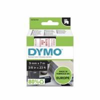 Labeltape DYMO D1 40915 S0720700 9mmx7m rød på hvid