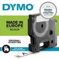 Labeltape DYMO D1 40916 S0720710 9mmx7m sort på blå