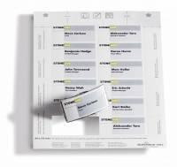 Indstik til kongresmærker på A4-ark hvid 75x40mm 20ark/pak