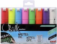 Whiteboard- og Chalkmarker Uni Chalk PWE-8K 8stk 8mm