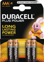 Batteri Duracell Plus Power AAA 4stk/pak