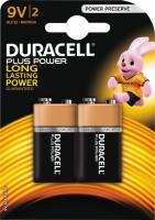 Batteri Duracell Plus Power 9V 2stk/pak