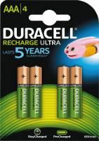 Batteri Duracell genopladelig AAA 900mAh 4stk/pak