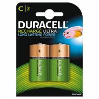Batteri Duracell genopladelig C 3000mAh 2stk/pak
