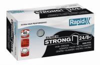 Hæfteklammer galvaniseret 24/8 Rapid super strong 5000stk/pak