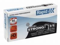 Hæfteklammer galvaniseret 9/8 Rapid super strong 5000stk/pak