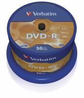 DVD-R Verbatim 4,7GB 16X 50stk spindel 43548