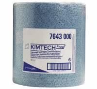 Aftørringspapir Kimtech blå 500ark/rul 38x34cm