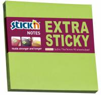 Notes Stick'N Extra Sticky grøn 76x76mm 90blade