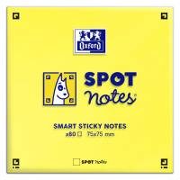 Notes Oxford Spot Sticky gul 76x76mm 80blade