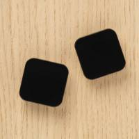Magnet Naga Squircle 2,5x2,5cm sort Super Strong 2stk/pak