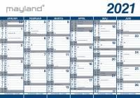 Kæmpekalender 2x6mdr rør PP 100x70cm 21 0654 00