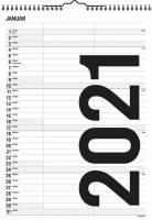 Familiekalender Black & white 21x29,7cm 2 kolonner 21 0665 10