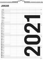 Familiekalender Black & white 29,5x39cm 5 kolonner 21 0665 50