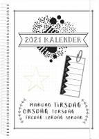 Doodle III kalender A5 uge 14,8x21cm 21 2272 00