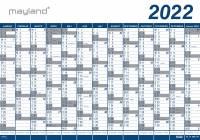 Kæmpekalender 13mdr vinyl 100x70cm 22 0650 00 (2022)